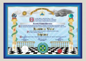 "Diploma ""Homem de Valor"", Brazilian Lodge, NY - EUA"